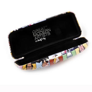 Great Modern Artists by Andy Tuohy Glasses Case - Basquiat, O Keefe, Mondrian, Kahlo, Dali, Warhol, Picasso Thumbnail 2
