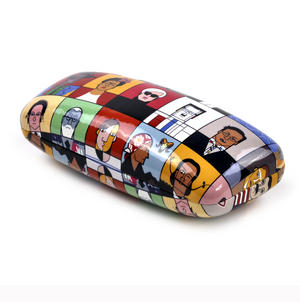 Great Modern Artists by Andy Tuohy Glasses Case - Basquiat, O Keefe, Mondrian, Kahlo, Dali, Warhol, Picasso Thumbnail 4