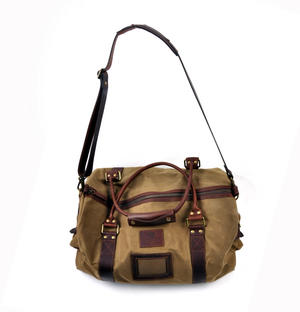 Large Hold All Tough Camel Wax Canvas Weekend Bag by The British Bag Company Thumbnail 2