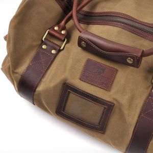 Large Hold All Tough Camel Wax Canvas Weekend Bag by The British Bag Company Thumbnail 3