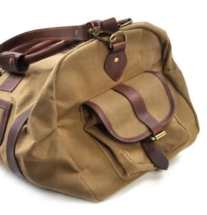 Large Hold All Tough Camel Wax Canvas Weekend Bag by The British Bag Company Thumbnail 4