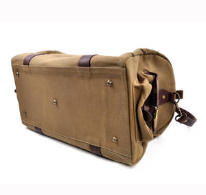 Large Hold All Tough Camel Wax Canvas Weekend Bag by The British Bag Company Thumbnail 6
