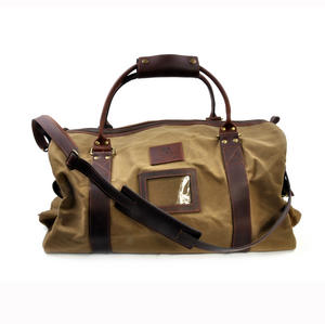 Large Hold All Tough Camel Wax Canvas Weekend Bag by The British Bag Company Thumbnail 7
