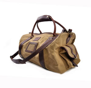 Large Hold All Tough Camel Wax Canvas Weekend Bag by The British Bag Company Thumbnail 8
