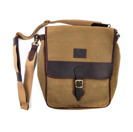 Camel Tough Canvas Cross Body Messenger Bag