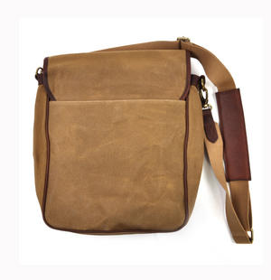 Camel Tough Canvas Cross Body Messenger Bag Thumbnail 3
