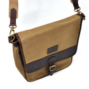 Camel Tough Canvas Cross Body Messenger Bag Thumbnail 5