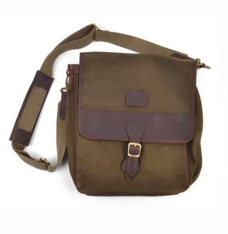 Khaki Tough Canvas Cross Body Messenger Bag