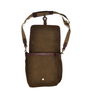 Khaki Tough Canvas Cross Body Messenger Bag Thumbnail 2
