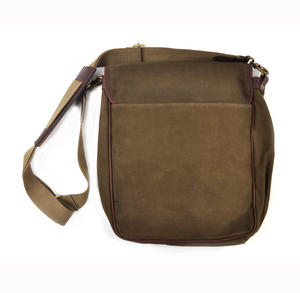 Khaki Tough Canvas Cross Body Messenger Bag Thumbnail 3