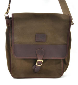 Khaki Tough Canvas Cross Body Messenger Bag Thumbnail 6