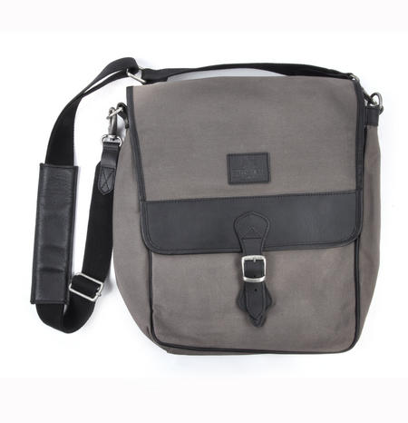 Slate Tough Canvas Cross Body Messenger Bag