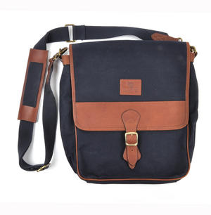 Navy Tough Canvas Cross Body Messenger Bag