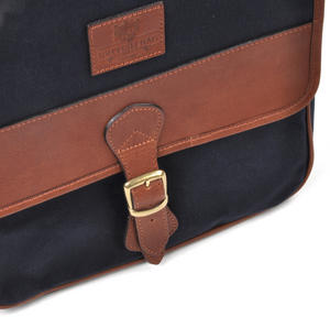 Navy Tough Canvas Cross Body Messenger Bag Thumbnail 8