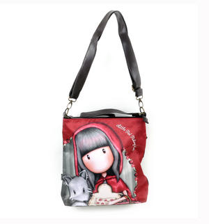 Little Red Riding Hood Large Hobo Shoulder Bag by Gorjuss Thumbnail 1