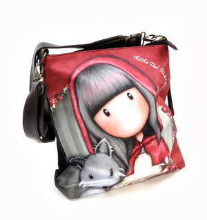 Little Red Riding Hood Large Hobo Shoulder Bag by Gorjuss Thumbnail 3