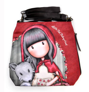 Little Red Riding Hood Large Hobo Shoulder Bag by Gorjuss Thumbnail 4