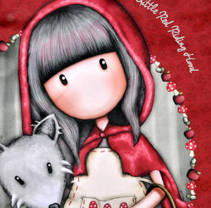 Little Red Riding Hood Large Hobo Shoulder Bag by Gorjuss Thumbnail 5