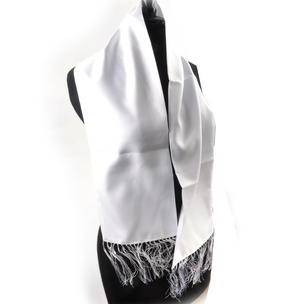 White Evening Dress Scarf Thumbnail 2