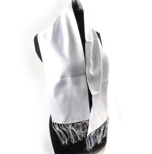 White Evening Dress Scarf Thumbnail 2