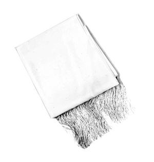 White Evening Dress Scarf Thumbnail 3