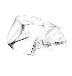 White Evening Dress Scarf Thumbnail 4
