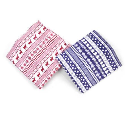 Fairisle Handkerchiefs - 2 Pack
