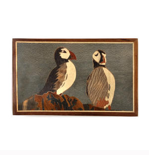 Puffins Secret Marquetry Stash Box with Invisible Opening System 11 x 17cm Thumbnail 2
