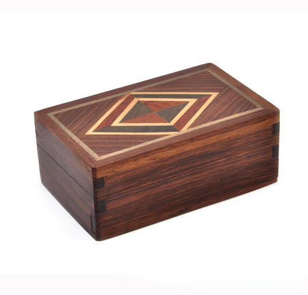 Diamond Secret Marquetry Stash Box with Invisible Opening System 7 x 11cm