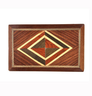 Diamond Secret Marquetry Stash Box with Invisible Opening System 7 x 11cm Thumbnail 2