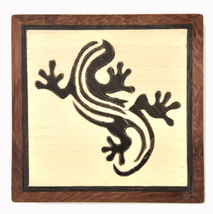 Lizard Secret Marquetry Stash Box with Invisible Opening System 8 x 8 cm Thumbnail 2