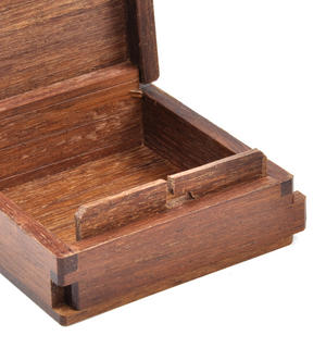 Panda Secret Marquetry Stash Box with Invisible Opening System 8 x 8 cm Thumbnail 4