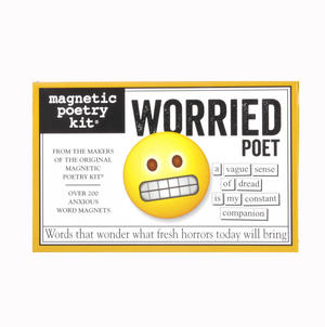 Worried Poet - Fridge Magnet Set - Fridge Poetry Thumbnail 1