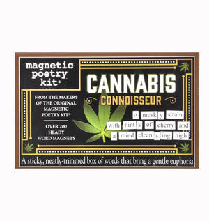 Cannabis Connoisseur - Fridge Magnet Set - Fridge Poetry Thumbnail 1