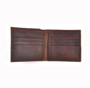 Camel Wax Canvas Brown Leather Bi-Fold Wallet Thumbnail 3