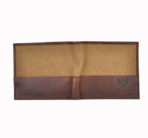 Camel Wax Canvas Brown Leather Bi-Fold Wallet Thumbnail 4