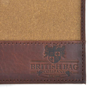 Camel Wax Canvas Brown Leather Bi-Fold Wallet Thumbnail 5