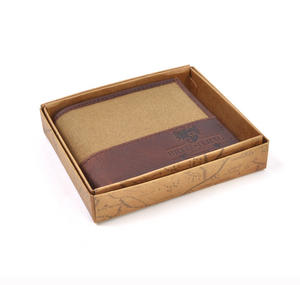 Camel Wax Canvas Brown Leather Bi-Fold Wallet Thumbnail 6