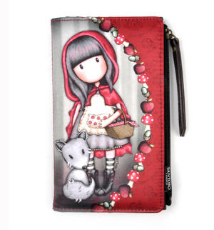 Little Red Riding Hood Large Wallet by Gorjuss