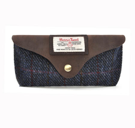 Harris Tweed Blue Allasdale Glasses Case