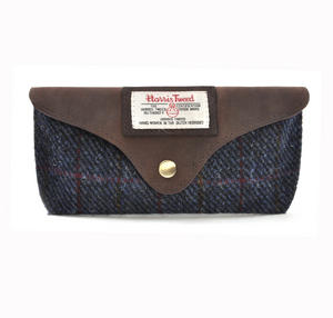 Harris Tweed Blue Allasdale Glasses Case Thumbnail 1