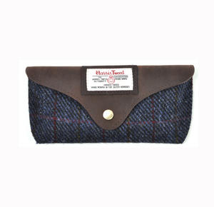 Harris Tweed Blue Allasdale Glasses Case Thumbnail 3