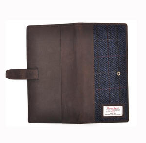 Blue Allasdale Harris Tweed Travel Documents Wallet by The British Bag Company Thumbnail 2