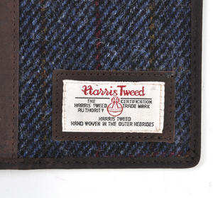 Blue Allasdale Harris Tweed Travel Documents Wallet by The British Bag Company Thumbnail 3