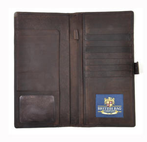 Blue Allasdale Harris Tweed Travel Documents Wallet by The British Bag Company Thumbnail 4