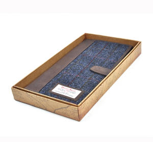 Blue Allasdale Harris Tweed Travel Documents Wallet by The British Bag Company Thumbnail 5