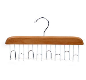 8 Hook Belt Rack - Wooden Rail Hanger Thumbnail 3