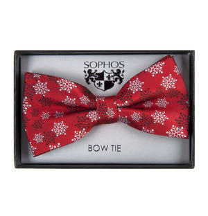 Snowflake Bow Tie by St. George Dresswear - Red Thumbnail 1