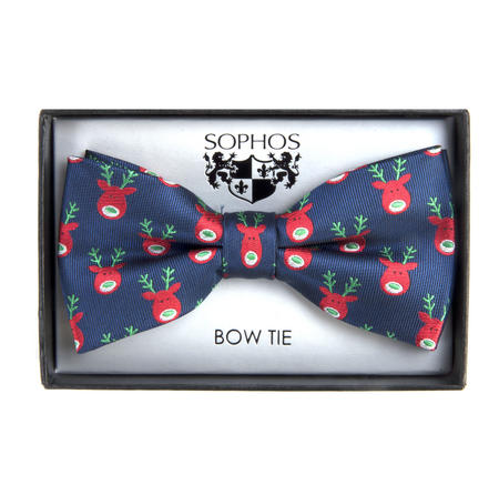 Navy Reindeer Bow Tie by St. George Dresswear