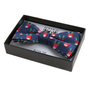 Navy Reindeer Bow Tie by St. George Dresswear Thumbnail 2